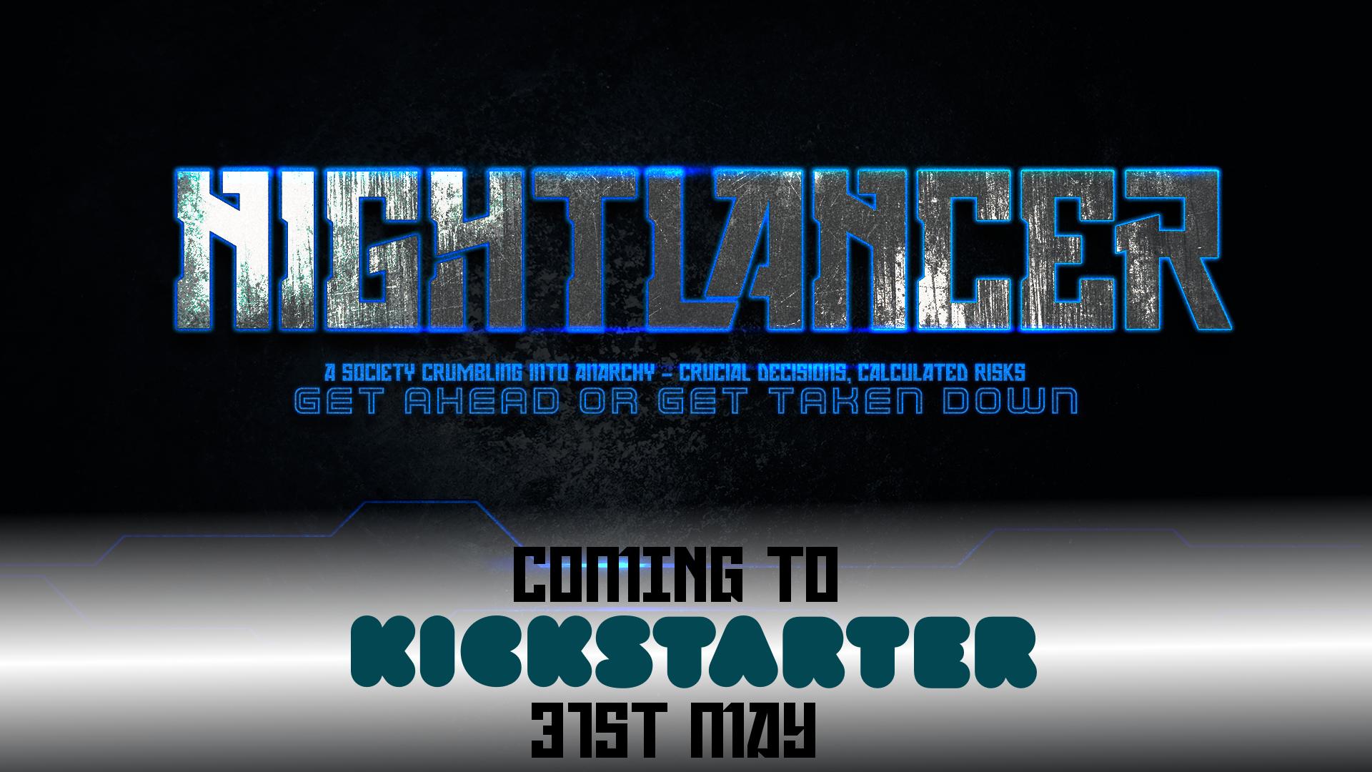 Nightlancer Kickstarter cyberpunk indie board game