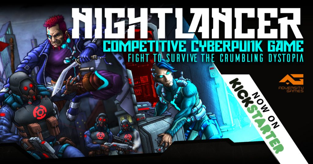 nightlancer kickstarter cyberpunk indiegame indiedev scifi dystopia
