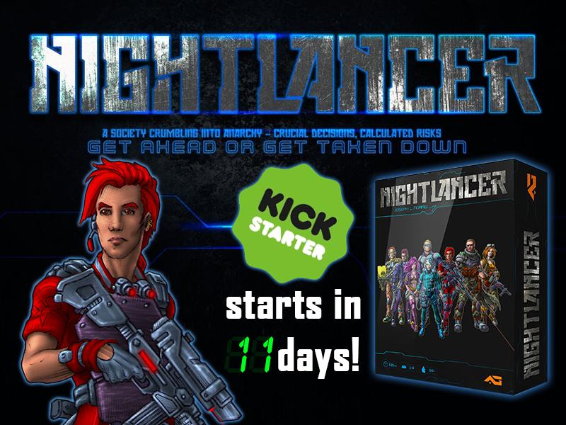 nightlancer kickstarter indie game dev art cyberpunk sci-fi