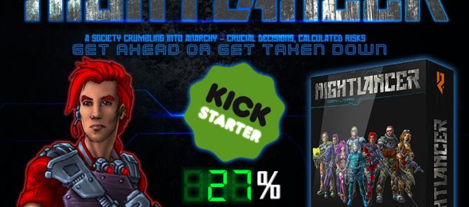 Nightlancer kickstarter indie game dev tabletop game board
